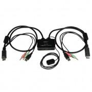StarTech 2x USB/DP Kabel KVM Switch met audio/remote