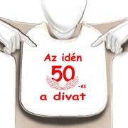 50-es a divat - Tréfás előke