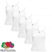 Fruit of the Loom 5 Top de alças mulher, algodão, branco XL