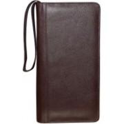 Kan Premium Quality Leather Travel Organizer/Passport Holder/Long Wallet for Men & Women(Brown)