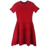 2017 autumn women knitted one-piece dress