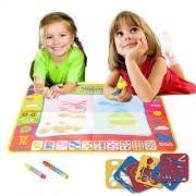 EXSPORT Aqua Doodle Mat 4 Color Children Water Magic Drawing Book Mat Board Kids Educational Toy Gift (1 Pack)
