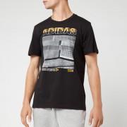 adidas Men's MH Photo Short Sleeve T-Shirt - Black - XL - Black