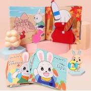 """Stoffen Baby Leer Boekje Eerste Jaar """"Dagelijks Leven"""" Speelgoed - Kinderen Activiteiten Boekjes - Kids Learning Book - Educatief Kleur Boek – Cadeau"""