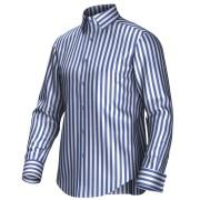 Maatoverhemd wit/blauw 54345