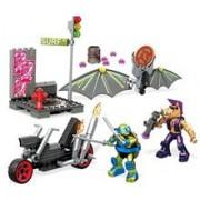 Set De Jucarii Mega Construx Teenage Mutant Ninja Turtles Leo & Bebop Turtle Glider Pursuit
