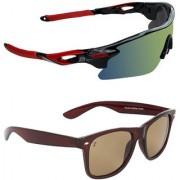 Zyaden Combo of 2 Sunglasses Sport and Wayfarer Sunglasses- COMBO 2757