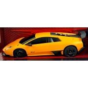 """Luxe Radio Control Black Lamborghini Murcielago LP 670-4 SV, 7"""" Full Fuction Radio Controlled, Musta"""