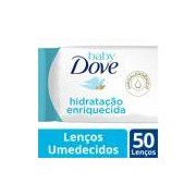 Lenço Umedecido Dove Baby Hidratação Enriquecida 50 Unidades