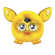 Golden Furby Furbling Creature Plush Doll Yellow Crystal Gold Furbling Interactive with Furby Boom, Special Edition