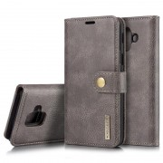 DG.Ming 2-in-1 Samsung Galaxy A6 (2018) Wallet Leather Case - Grey