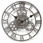 Ceas de perete Fiora The Cog, gri, 50,8cm L x 50,8cm H x 3,8cm D
