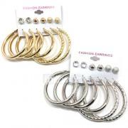 Dames Oorknopjes Ring oorbellen Zirkonia Multi-ways Wear Kostuum juwelen Legering Ronde vorm Sieraden Voor Bruiloft Feest Speciale