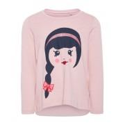 NAME IT Tryckt Långärmad T-shirt Kvinna Rosa