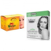 Nature's Essence Ravishing Mini Diamond Facial Kit 52g + 60ml Pink Root Mango Bleach 250g