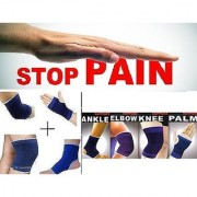 Combo Ankle + Knee + Elbow + Palm Support Pairs for GYM Exercise Grip CODEdi-0611