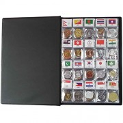 120 Countries Coins Collection Set Fine Coins 100 Original Genuine with Leather Collection Album Country Flag and Name