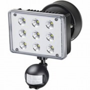 Nagyteljesítményu LED- lámpa L903 PIR IP55 infravörös mozgásérzékelovel 9x3W 1675lm fekete Energiahatékonysági osztály A