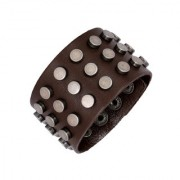 The Jewelbox Disco Casual Dark Brown 100 Genuine Handcrafted Leather Wrist Band Strap Biker Bracelet Boys Men