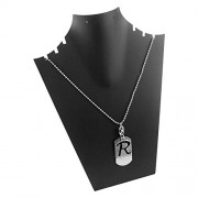 eshoppee R Name Plate Locket with Dog tag for Men and Women
