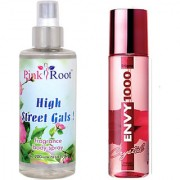 Envy Engima Perfume Body Spray 120ml and Pink Root High Street Gals Fragrance body Spray 200ml Pack of 2