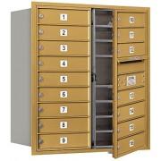 Salsbury Industries Salsbury Industrias 3709d-16gfp 4C Horizontal buzón de correos, Oro