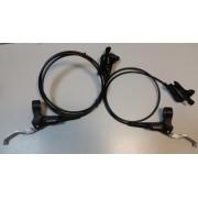 Frana Pe Disc Shimano, Set Asamblat, Deore(Smn Logo)Bl-M535