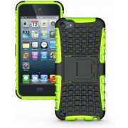 GadgetBay Shockproof groen iPod Touch 5 6 7 hoesje standaard case cover
