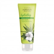 Avon Mască hidratantă de față cu bumbac și aloe vera Naturals (Face Mask Hydration With Cotton And Aloe Vera) 75 ml