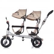 Chipolino Tricicleta gemeni 2Play mocca