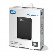 Външен твърд диск Western Digital Elements 750GB USB 3.0 Portable Black