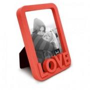 Porta Retrato Love Amor Moderno Vermelho