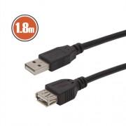 USB hosszabbító A aljzat - A dugó 1,8 m