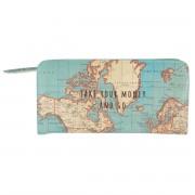 wereld kado - Portemonnee met vintage wereldkaart | Sass & Belle