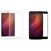 Coloured Tempered Glass for Redmi Note 4 White Black Pack Of Two Screen Protector