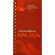 Concise rules of apa style (spiral bound)