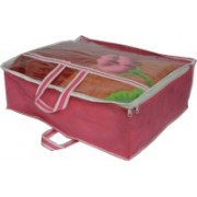 PRAHAN INTERNATIONAL Non Woven Blanket Cover Bag With handle BC-001(Pink)