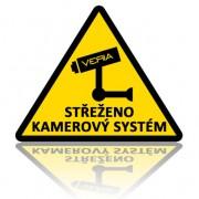 Výstražná samolepka - Střeženo kamerový systém