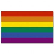 Merkloos Regenboog vlaggen