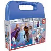 Детски пъзел Educa, 18114 Frozen 2, в куфар, 8412668181144