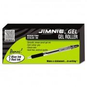 Jimnie Roller Ball Stick Gel Pen, Black Ink, Medium, 24/box