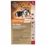 Advantage Multi Red for Large Dogs 20.1-55 lbs 3 Doses
