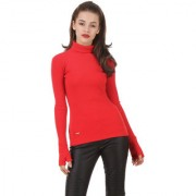 Texco Red Non Hooded Sweatshirt for Women