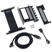 Suport intern CableMod pentru montarea verticala a placilor video, cablu Riser inclus, HDMI + DisplayPort
