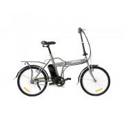 """Skate flash Bicicleta electrica skateflash folding ebike gris rueda 20"""" x 1.75"""" bateria 4.4a motor 24v/250w"""