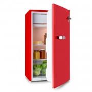 Klarstein Beercracker 90L, хладилник, енергиен клас A +, фризер, отварачка за бутилки, червен (CO2-Beercracker)