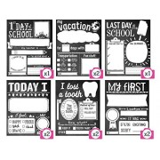 Sticky Bellies Picture Me Proud - Photo Memory Cards - 10 Cards - First Day of School Sign & More