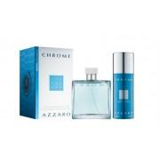 Azzaro Chrome Gift Set-EDT 100ml + Deodorant 150ml