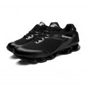 Zapatillas Deportivas Resistente Al Desgaste Para Hombres- Negro