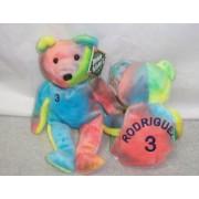 Salvino's BAMM Beano's - Alex Rodriguez #3 Bear Rainbow Colored Bean Bag Toy by Salvino's